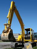 Escavador mecânico vertical imagens de stock