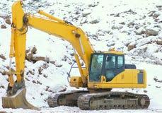 Escavador no poço aberto Imagem de Stock