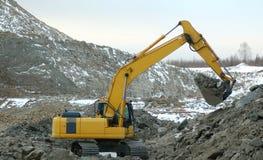Escavador no poço aberto Foto de Stock Royalty Free