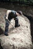 Escavador no trabalho fotos de stock