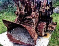 Escavador velho da mineração Imagens de Stock