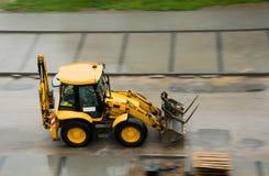 Escavadora amarela Imagem de Stock Royalty Free