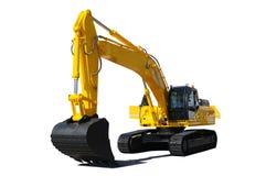 Escavadora amarela Imagens de Stock