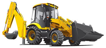 Escavadora amarela ilustração stock