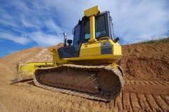 Escavadora amarela da construção Fotos de Stock