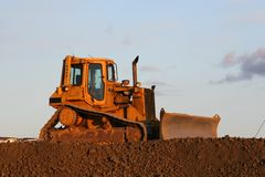 Escavadora inativa Fotografia de Stock