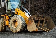 Escavadora no canteiro de obras Imagem de Stock