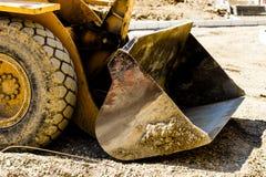Escavadora no terreno de construção Fotografia de Stock