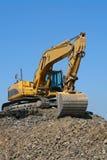 Escavadora no trabalho Fotos de Stock