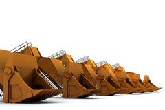 Escavadores Fotografia de Stock Royalty Free