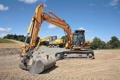 Escavadores industriais Foto de Stock Royalty Free