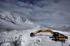 Escavando o Glacer Foto de Stock