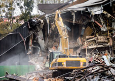 Escavatore al cantiere Fotografie Stock Libere da Diritti