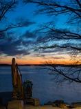 Escavatore al tramonto Fotografia Stock