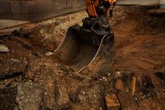 Escavatore Bucket Fotografia Stock Libera da Diritti