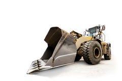 Escavatore/bulldozer - veicolo industriale isolato su bianco Fotografie Stock