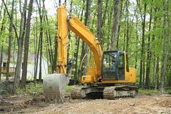Escavatore a cucchiaia rovescia Fotografie Stock