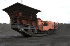 Escavatore del carbone Fotografie Stock Libere da Diritti