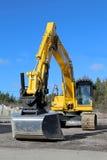 Escavatore del cingolo di KOMATSU su un'iarda Immagine Stock