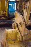 Escavatore del macchinario pesante Fotografia Stock