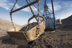Escavatore della miniera fotografia stock libera da diritti