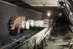 Escavatore della miniera di carbone Fotografia Stock