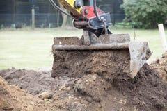 Escavatore della pala Fotografia Stock Libera da Diritti