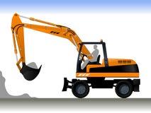 Escavatore della ruota illustrazione vettoriale