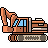 Escavatore di arte del pixel di vettore Immagine Stock Libera da Diritti