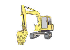 Escavatore diggern Immagine Stock Libera da Diritti