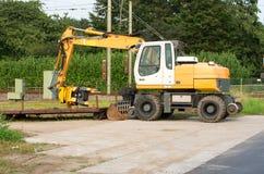 Escavatore ferroviario Fotografia Stock Libera da Diritti