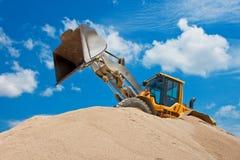 Escavatore giallo Fotografia Stock