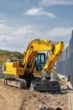 Escavatore giallo Fotografie Stock Libere da Diritti