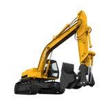 Escavatore giallo isolato Immagine Stock Libera da Diritti