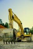 Escavatore nella miniera di carbone Fotografia Stock