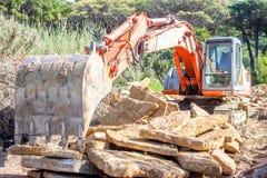 Escavatore pesante del organge Fotografia Stock