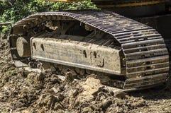 Escavatore Tracks Immagini Stock Libere da Diritti