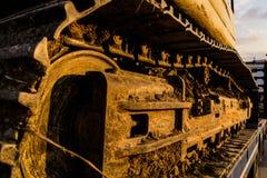 Escavatore On Trailer Fotografie Stock Libere da Diritti