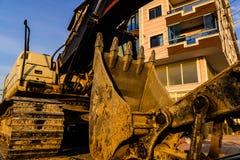 Escavatore On Trailer Fotografie Stock