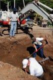 Escavatori Fotografia Stock Libera da Diritti
