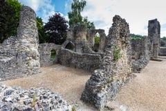 Escúdese las ruinas Imágenes de archivo libres de regalías