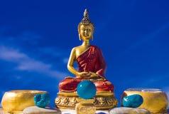 Escena 01 del altar del birma del zen Imágenes de archivo libres de regalías
