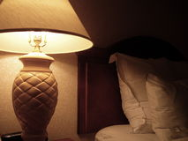 Escena acogedora del dormitorio Foto de archivo libre de regalías