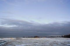 Escena agrícola holandesa del invierno imagen de archivo