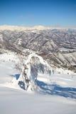 Escena alpina del invierno Foto de archivo