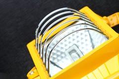 Escena amarilla de la unidad del proyector fotografía de archivo