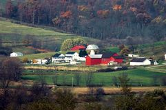 Escena americana de la granja Imagenes de archivo