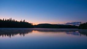 Escena asombrosa en el desierto de Portneuf, Quebec, Canadá de la puesta del sol imagen de archivo libre de regalías