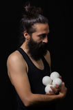 Escena blanda de un juglar del circo Fotografía de archivo libre de regalías