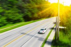 Escena borrosa de la carretera Imagen de archivo